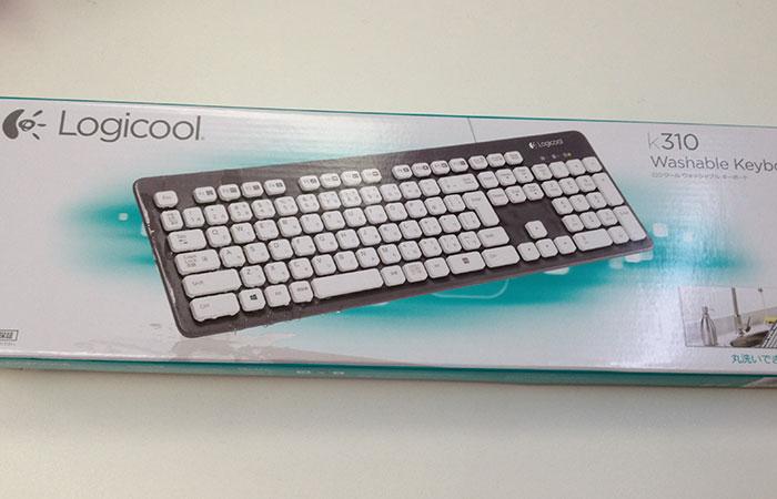 水で洗えるキーボード ロジクール K310 買いました