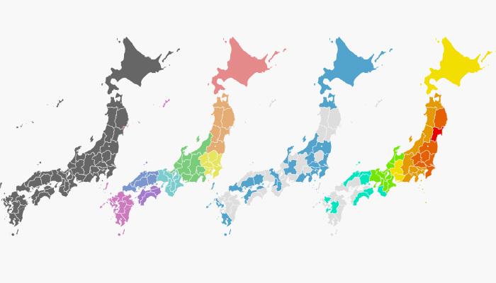 日本地図をwebフォントとCSSで ...