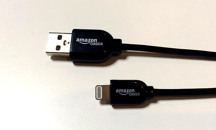 iPhoneで黒いLightningケーブル買うならApple認証取得Amazonベーシックのが良い!