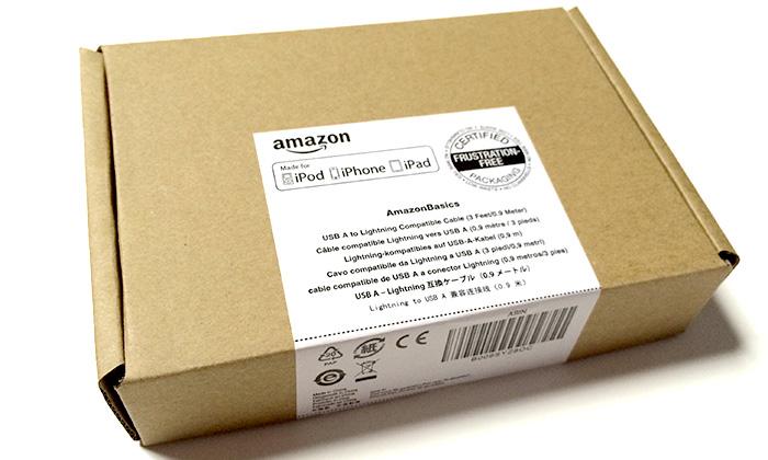 AmazonベーシックLightningケーブル ブラック