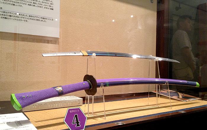 紫色の日本刀がかっこいい
