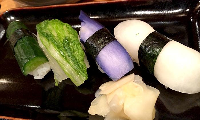 京漬物の寿司