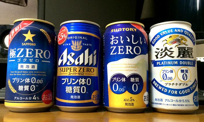 話題の「プリン体ゼロ糖質ゼロ」発泡酒を各社飲み比べてみた!